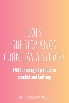 The slip knot is the starting point of most crochet and knitting projects, so it's crucial to learn how to make one. Get your questions answered in this combined tutorial and FAQ! #SlipKnot #Crochet #Knitting #Tutorial #Video