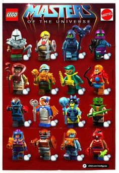 Customs: Gregos Thomas imagines a Masters of the Universe line from LEGO with a CG rendered minifig poster. [ToysREvil]