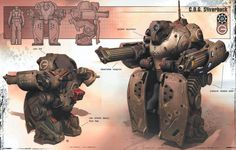 Awesome Silverback assault mech with built in shields
