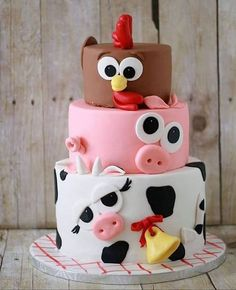 Image result for farm animal cake