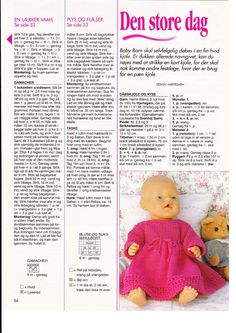 "Photo from album ""Одежда для Baby Born on Yandex. Knitting Dolls Clothes, Doll Clothes Patterns, Doll Patterns, Dolly Fashion, Fashion Dolls, Love Knitting Patterns, Baby Born Clothes, Knitting Books, Knit Fashion"