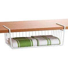 Undershelf Baskets: could work for napkins, cutting boards, foil & plastic wrap or Tupperware lids