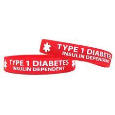 type 1 diabetes silicone bracelet