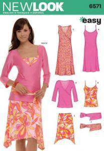 Patron N°6571 New Look : Ensemble haut, jupe, robe et ceinture