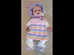 Crochet Quick Easy Beginner Rainbow Ripple Dreams Baby Dress DIY Tutorial