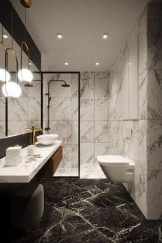 d-interior. Modern Luxury Bathroom, Bathroom Design Luxury, Bathroom Layout, Modern Bathroom Design, Small Bathroom, Dream Bathrooms, Modern Interior, Latest Bathroom Designs, White Marble Bathrooms