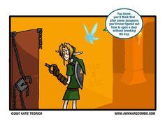 """All Keyed Up"" Comic - the-legend-of-zelda Fan Art Awkward Zombie, Mario Funny, Space Hero, Legend Of Zelda Memes, All Video Games, Gamer Humor, Wind Waker, Twilight Princess, Super Smash Bros"