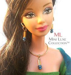 Bijoux de poupée de mode pour Barbie Doll par MiniLuxeCollection