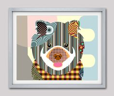 Chow Chow Dog Art Print Poster, Chow Chow Gift, Chow Chow Chinese Dog Pet Portrait, Animal Art, Dog Painting, Dog Wall Art AVAILABLE FOR SALE
