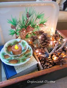 A Vintage Christmas Home Tour www.organizedclutterqueen.blogspot.com