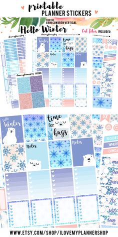 Printable planner stickers for Erin Condren.