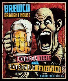 Old Posters, Posters Vintage, Vintage Advertising Posters, Vintage Advertisements, Bar Retro, Brewery Design, Beer Poster, Beer Art, Kunst Poster