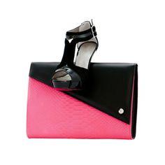 Cartera flúor pink de Makra Bolsos.