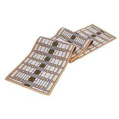 Frank Lloyd Wright D.D. Martin Art Glass Doors Tapestry Table Runner