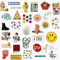 Tumblr Stickers, Phone Stickers, Kids Stickers, Cool Stickers, Printable Stickers, Aesthetic Stickers, Scrapbook Stickers, Indie Kids, Scrapbooking