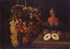 Espinosa, Juan de - Life Still with grapes and cakes
