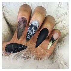 71 Creepy but Cute Halloween Nails Art Design Ideas You Will Love ❤ liked on Polyvore featuring beauty products, nail care, nail treatments, nails, beauty and makeup