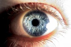 Blue eyes don't contain any blue pigment at all. Their color is actually caused by the Tyndall effect, a phenomenon similar to the effect that makes the sk Crest Syndrome, Blue Pigment, Graves Disease, Human Eye, Autoimmune Disease, Stem Cells, Fibromyalgia, Chronic Pain, Blue Eyes