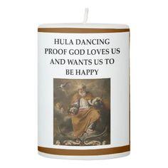 HULA PILLAR CANDLE