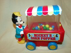 Mickey's Corn Popper Collectible Toy Vintage Toy by RCEastman, $15.00 #mickeymousecornpopper, #mickeymouse