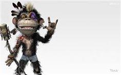 Crazy Monkey Singer HD Jungle Funny Wallpaper,Monkey Funny Wallpaper,Animal Fun Wallpaper,Cartoon Fun Wallpaper,Funny Wallpaper & Images