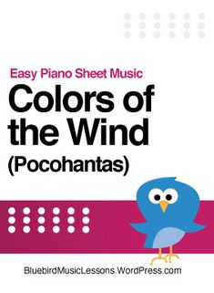 """Learn to play """"Colors of the Wind"""" from Pocohantas with this incredible arrangement for easy piano. It's rich and full sounding, and will make you sound great no matter what your skill level! #pianolessons Music Lessons For Kids, Piano Lessons, Music Theory Worksheets, Christmas Sheet Music, Sticker Chart, Easy Piano Sheet Music, Printable Sheet Music, Music Rooms, Teaching Colors"""