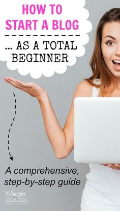 A comprehensive, step-by-step guide on how to start a blog ...when you're an absolute beginner! Learn how to set yourself up to make money from home.