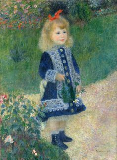 Auguste Renoir - A Girl with a Watering Can - Google Art Project - Pierre-Auguste Renoir - Wikipedia, the free encyclopedia