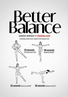 Better Balance is a Darebee home workout specifically designed to help you achieve better balance. Darbee Workout, Body Workout At Home, Fitness Workout For Women, Workout Challenge, Workout Videos, Boxing Workout, Easy Workouts, At Home Workouts, Gentle Workout