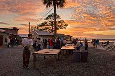 Bowen's Island oyster roast, Folly Beach, SC