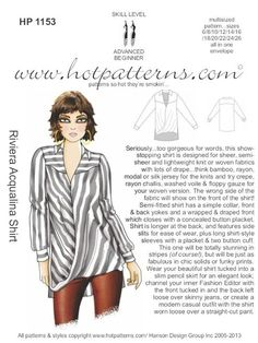 Hot Patterns Riviera Pennant Blouse 109