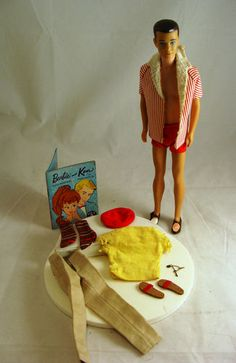 VINTAGE 1960 KEN DOLL AND CLOTHES AND BOOKLET!