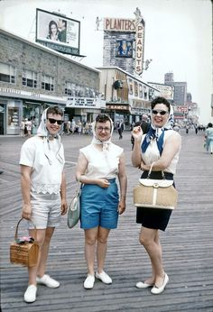 YEP, THERE USED TO BE ACTUAL SHOPS ON THE ATLANTIC CTY BOARDWALK - ALL THE WAY UP THROUGH THE MID 1980'S. I'D SETTLE FOR THESE LADIES' PRETTY PURSES AND A LITTLE SUNSHINE:) (A retro photo we found and used on the blog to announce our July 2014 Jersey Shore vacation.) #jerseyshore #newjersey #atlanticcity #boardwalk #shore #ocean #seaside #1960s #retro #vintage #photo