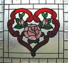 heart of roses stained glass