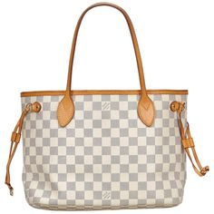 For Sale on - The Neverfull PM features a damier canvas body with a leather trim, flat shoulder straps, an open top, and an interior zip pocket. Louis Vuitton Neverfull, Louis Vuitton Handbags, Sleeping With Wet Hair, Designer Totes, Designer Bags, Small Tote Bags, Vintage Louis Vuitton, Authentic Louis Vuitton, Luggage Bags