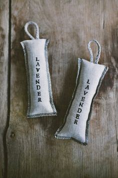 Linen lavender bags / Light Grey lavender bags / by LINOHAZE