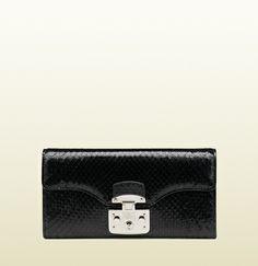 Gucci - lady lock python wallet