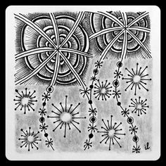 Zentangle Zoo: Square One: Ahh!