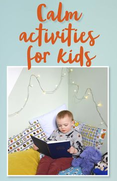 Easy free calming activities for children including how to do simple yoga and how to create a calm corner. Perfect before bedtime and after school. Calming Activities, List Of Activities, After School, Bedtime, Kids Rugs, Children, Simple, Fun, Ideas