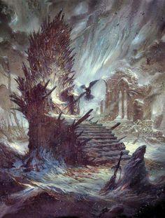 The Iron Throne destroyed by Enrique Jimenez Corominas