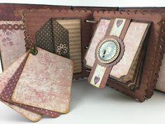 mini scrapbook album using Santoro London Paper Collection Santoro London, Stationary Gifts, Mini Albums, Scrapbooking, Wallet, Paper, Crafting, Diy Crafts, Collection