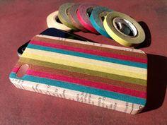 カラーグラデーションのマスキングテープiPhoneケース。 マスキングテープのデザイン性、風合いが楽しめる、手づくり中の手づくりiPhoneケースです。 無地...|ハンドメイド、手作り、手仕事品の通販・販売・購入ならCreema。