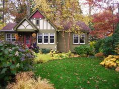 How To Prepare Your Lawn and Garden For Fall   HGTV Lawn And Garden, Home And Garden, Garden Edging, Garden Path, Dream Garden, Front Yard Design, Garden Landscape Design, Fall Landscape, Front Yard Landscaping