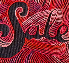 Embroidered Typography by MaricorMaricar