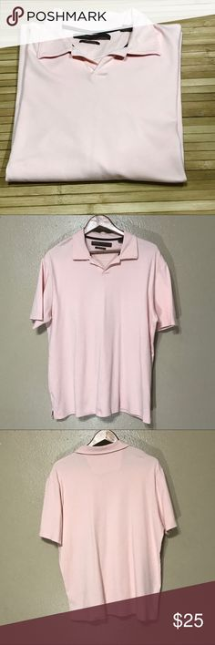 👕Men's Perry Ellis Baby Pink Luxury Cotton Polo 👕Men's Perry Ellis Baby Pink Luxury Cotton Polo    XL  Luxury cotton - soft  Last photo is closer to actual color  This polo doesn't have buttons, it's super soft, comfortable, and is perfect for dressy casual attire.   # 488 Perry Ellis Shirts Polos