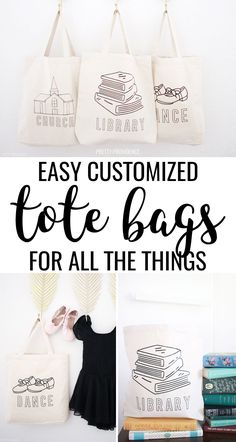 Customize canvas tote bags with iron-on vinyl to make cute personalized dance bags, library totes and church bags, and more! Full tutorial on how to apply Cricut iron-on to canvas totes! #cricut #cricutprojects #cricutexplore #cricutexploreair #cricutmaker #cricutexploreair2 #cricutmade #cricutcrafts #cricutideas #ironon #htv #irononvinyl #svg #svgfiles #irononcanvas #heattransfervinyl #easypress  via @pinterest.com/prettyprovidnce