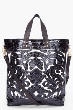 Balmain black  white tote bag