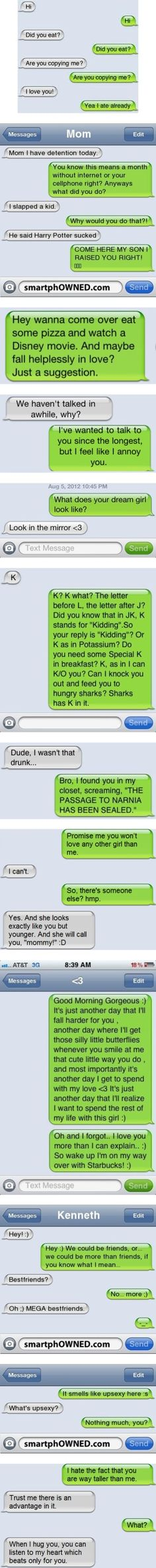 """Awesome random textmessages :3"" by crystabella ❤ liked on Polyvore"