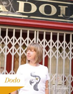 T-shirt dipinta a mano Dodo di Mar&Vi su DaWanda.com