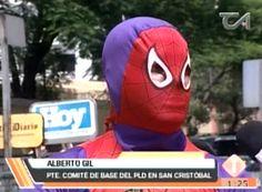 El Hombre Araña Salió A Protestar En Defensa De Los Peledeistas